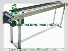 LX-PACK Lowest Factory Price band carrier Belt conveyor for bottles food products customized moving belt rotating table Stand(China)