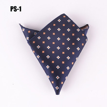 Factory Fashion men designer pocket square high quality woven floral handkerchief