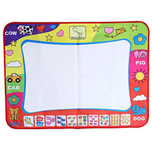 60X80cm Water Drawing Toys Mat Aquadoodle Mat 1 Painting Mat + 2 Water Drawing Pen baby Kids play mat(China)