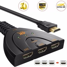 BESIUNI 4K*2K 3D Mini 3 Port HDMI Switch 1.4b 4K Switcher HDMI Splitter 1080P 3 in 1 out Port Hub for DVD HDTV Xbox PS3 PS4(China)