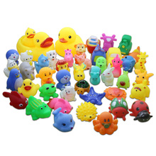 20PCS/LOT Random Summer Water Action Figures,3-15CM  Animals Toys Safety Evade Glue For Children Swimming  Toys