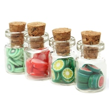 Kiwarm Fashion 4pcs/Set 1:12 Dollhouse Miniature Accessories DIY Various Fruit Bottles Canned For Home Kids Toy Ornament Craft