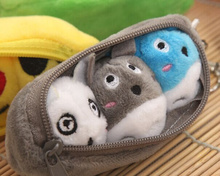 NEW Kawaii 10CM Gray TOTORO Pea Beans Pendant Plush Stuffed Toy , Key chain TOY & Kid's Gift Plush TOY