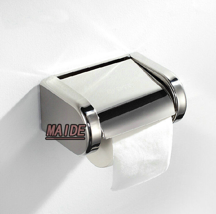 SUS 304 Stainless Steel Bathroom waterproof Toilet Paper Holder Tissue Roll Box,Free shipping<br><br>Aliexpress