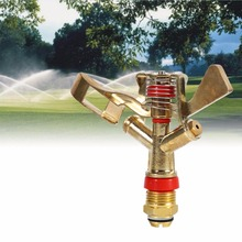 VGEBY 1/2 Inch Water Sprinkler Spray Nozzle Connector Copper Rotate Rocker Arm Garden Irrigation System Garden Supplies