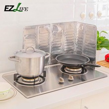 Kitchen Oil Aluminium Foil Plate Gas Stove Oil Splatter Screens Kitchen Tools Cooking Insulate Splash Proof Baffle Plate HD0169(China)
