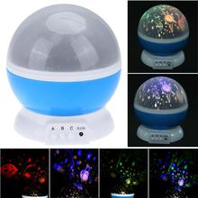 Romantic LED Rotating Music Universe Ocean Projector Luminous Lamps Novelty Lighting Rotation Battery USB Night Light For Gift(China)