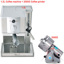 19 Bar Espresso Machine, Most Popular Semi-automatic Cappuccino Coffee Maker, Italian Pressure Coffee Machine+2KG Coffee Grinder