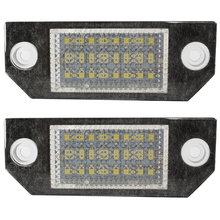 2pcs 5W Car LED License Number Plate Light for Ford Focus 2 3 Kuga C-Max Mondeo 24 LED Bulbs 6000K Car-styling Auto Light Source(China)