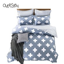 OVERSTEN Modern Style Double Single Bedding Set Queen Twin King Size Duvet Cover 2 1 Geometric Pattern Bedding Kit Quilt Cover