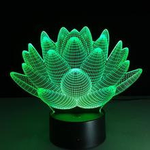 Lotus Led Table Lamp 3D Touch Control Night 7 Colors Change USB LED Desk Table Light Lamp Power Bank Abajur Night Light