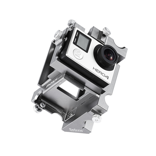 360 Degree Panoramic Aluminium Holder For GoPro Hero 3+4 Sj5000 Xiaomi Yi Spherical Sport Camera Accessories Action Video Mount (5)