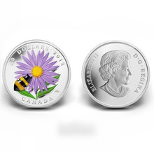2013 Venetian glass chrysanthemum honey beesSilver plated coin canadian coin gift present