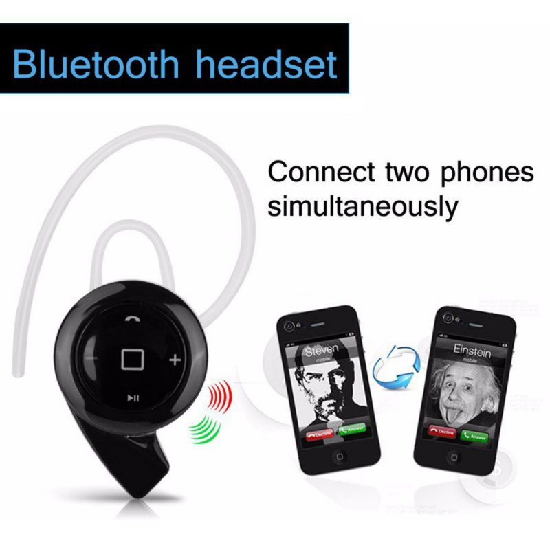 For IPhone Samsung Bluetooth Earphone Black Stereo Headset Headphone Mini Wireless Bluetooth Handfree<br><br>Aliexpress