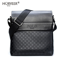 HORYEER sacoche homme special offer leather messenger bag fashion men business crossbody bag brand POLO Shoulder Bag briefcase(China)