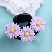 Free Shipping Fashion women flower hair claws  girl's cute lovely daisy hairs clip hairpin hair accessory