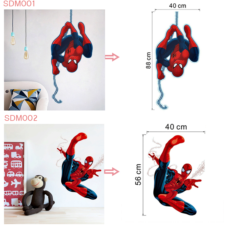 HTB1DKZtnwoQMeJjy0Fpq6ATxpXaO - 3d effect hero spiderman wall stickers for kids rooms