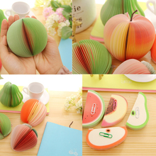 Fruit Shaped Portable Scratch Paper Scrapbooking Notepad Memo Stationary Notes Cute Pad Scratchpad  Post Sticky Apple Pear