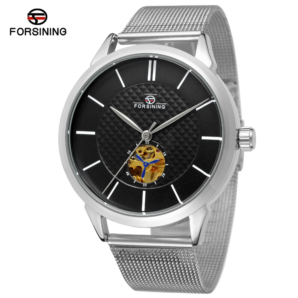 2017 Fashion Men Mechanical Watch Top Brand Luxury Stainless Steel Automatic Mechanical Skeleton Wristwatch Relogio Masculino<br><br>Aliexpress