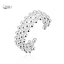 QIAMNI Elegant  Circle Beads Hollow Linked Web Wide Cuff Bracelets Bangles for Girls Women Christmas Gift Wedding Jewelry