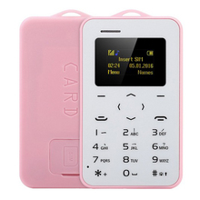 Original AEKU C6 Ultra Thin Mini Cell Phones Student Version Credit Card Mobile Phone Bluetooth PK AIEK M5 Card Phone No Camera