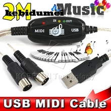 kebidumei USB 2.0 to Keyboard PC MIDI Interface connector Adapter Music Instrument Digital Interface Cable for CUBASE Cakewalk