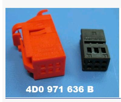 6 connector 4D0 971 636B<br>