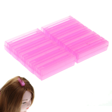 10pcs/set Pink Resin Plastic Hair Rollers Corrugated Folder Hair Maker for Hair Root Chips Hair Curlers Pro Hairdressing Tools(China)