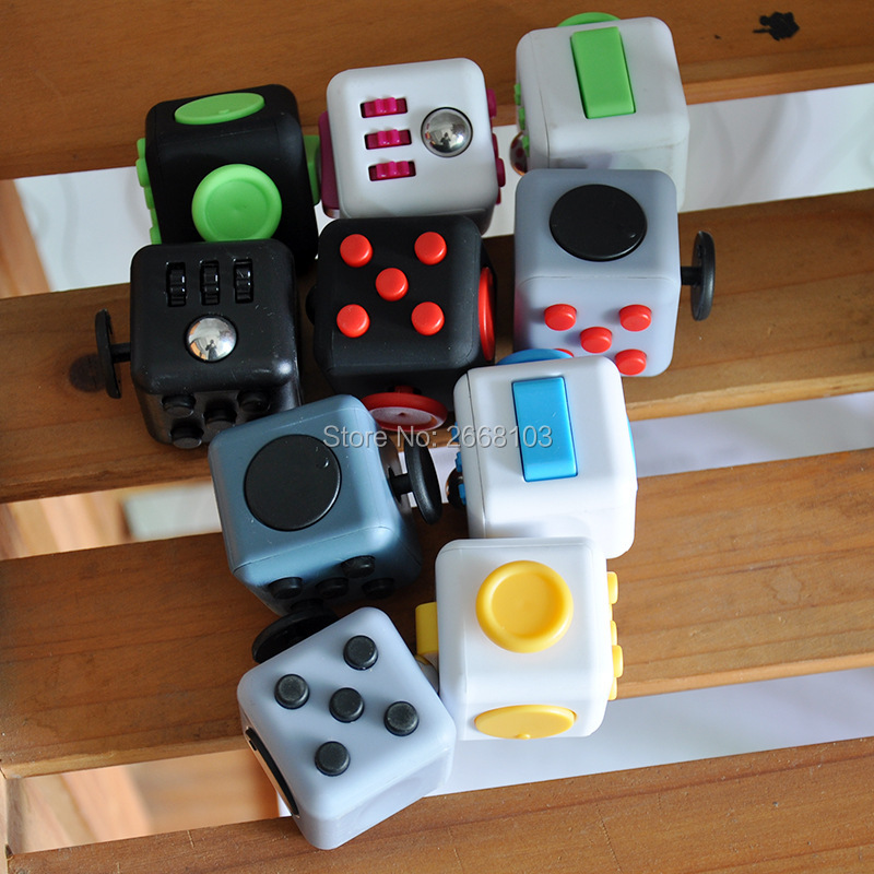 11PCS/Lot Fidget Cube Funny Silicone Toy Relieves Stress Anti Irritability Dice A Vinyl Desk Gift For Adult And Children Squeeze(China)