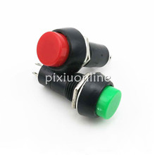 1pc J065 Push Self-locking Button Switch Green/Red Colors Electric Switch for DIY Model Making Free Shipping Russia