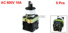 "1 Bag ( 5 PCS ) x AC 600V 10A Three 3 Position DPST Lock Rotary Select Selector Switch Latching 22mm 7/8"" 2 N/O NO ZB2-BE101C(China)"