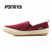2017 Men Canvas Shoes Summer Fashion Casual Men's Loafers Shoes Breathable and Soft Canvas Men Flats  160