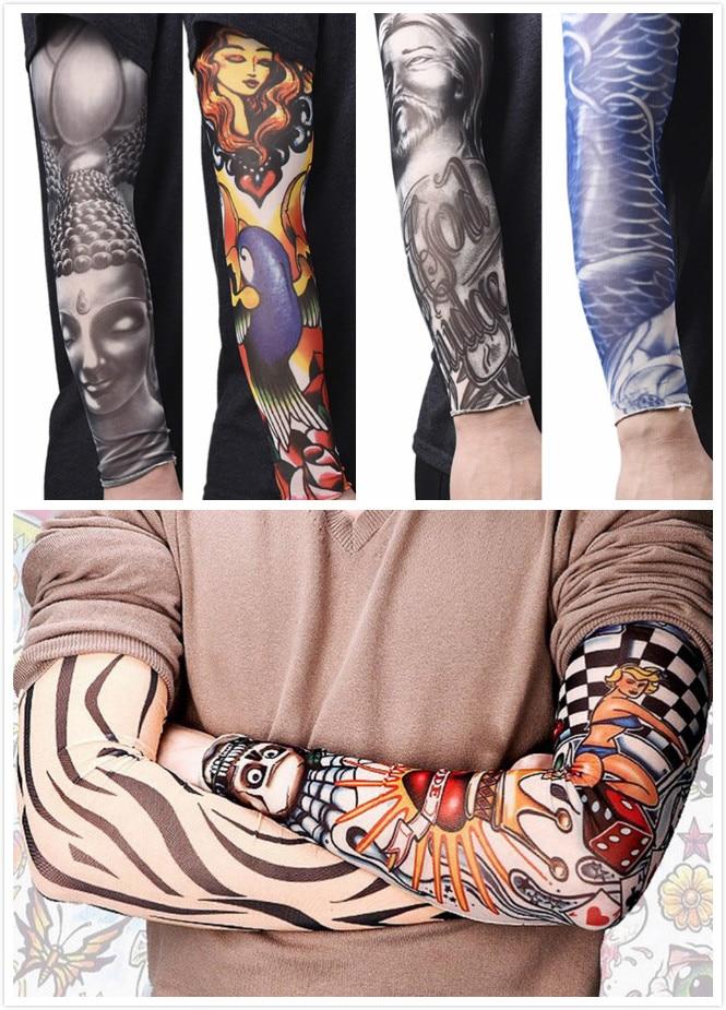 Men's Accessories Anti-sunshine Fashion Men And Women Tattoo Arm Leg Sleeves High Elastic Nylon Halloween Party Dance Party Tattoo Sleeve