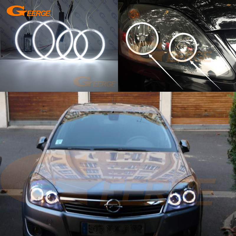 For Opel Zafira B 2005-2014 Excellent angel eyes Ultra bright illumination CCFL Angel Eyes kit Halo Rings<br>