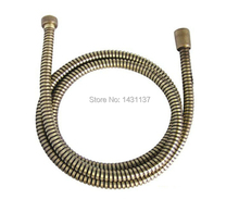 "Free shipping 60"" G1/2""B bronze EPDM braided stainless steel bathroom 1.5m flexible plumbing hose(China)"
