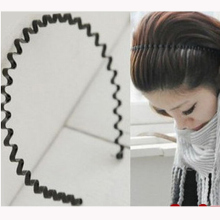 All-match general corrugated iron hair bands spiral buckle steel wire spring headband hair pin