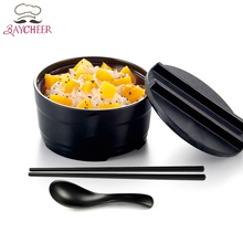 Melamine Tableware Ceramic Simulating with cover Instant Noodle bowl Salad bowl Heat insulation soup Ramen Bowl(China)