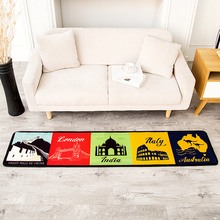 Fashion Beautiful The Great Wall Architecture Pattern Kitchen Runner Rug Non-Slip Breathable Living Room Bedroom Rug(China)