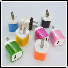 Sample USB Wall Travel Charger Adapter AC Power US Plug for Samsung for htc for apple iphone by china post