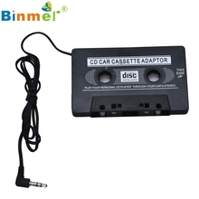 Levert DropshipBinmer Old Style 3.5mm Jack Car Audio Tape Cassette Adapter For Iphone MP3 CD Radio Nov 22