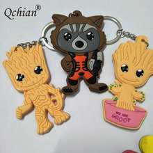 Guardians of the Galaxy Keychain High quality ents Rocket Raccoon 3 Style Collection Toys Llavero Chaveiro PVC(China)