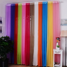 15 Colors Curtains For living Room 1PC Home Hotel Office Bedroom French Window Curtain Room Decoration Curtains VB250 P0.5