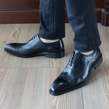 FELIX CHU Fashion Design Mens British Oxford Dress Shoes Genuine Leather Handmade Comfortable Black Formal Office Shoes 1815-83