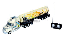 RC Truck Heave Truck 1:32 US Truck Big Size Remote Control High Power Drive emulation 2 Color interest tank truck model toy(China)