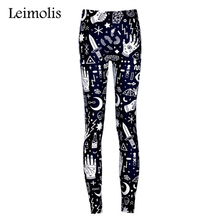 Buy Leimolis High Waist punk rock Harajuku workout push fitness sexy 3d print Witchy lady women leggings plus size pants for $8.10 in AliExpress store