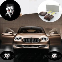 Pair Logo Wireless Led Car Door Welcome LED Laser Projector Ghost Shadow Light Logo For Joker Batman The Dark Knigh #6095