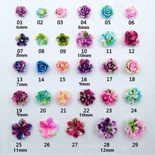 Resin Rose 3D Nail Art Supplies Sticker Flowers for Nails Accessories Nail Decorations New Arrival Nailart Studs Jewelry Beads