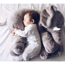 Cartoon 60cm Large Plush Elephant Toy Kids Sleeping Back Cushion stuffed Pillow Elephant Doll Baby Doll Birthday Gift for Kids(China)