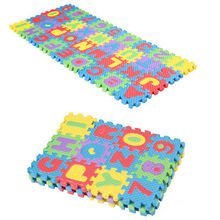 36pcs Soft Eva Foam Baby Play Floor Mat Alphabet Numbers Kid DIY Puzzle Jigsaw(China)