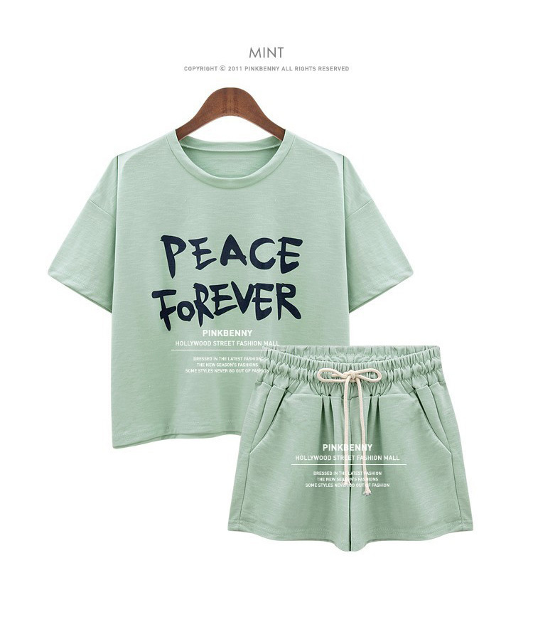 Women's Sets Short Sleeve T Shirt Tops And Shorts Sweat Suits Women Summer Tracksuits Runway Outfit Two Piece Sets Sporting Suit(China)